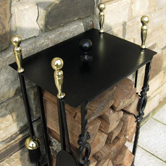 Contemporary-Log-Holder-Companion-Set